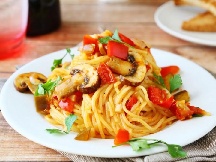 Spaghetti met kastanjechampignons